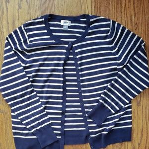 NWOT Navy/White Striped Cardigan